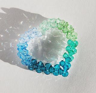 Beadapple: Kékből zöldbe szív