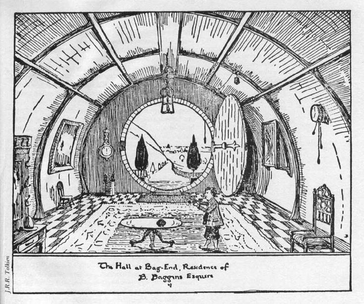 67 best bag end images on pinterest lord of the rings for Hobbit house drawings