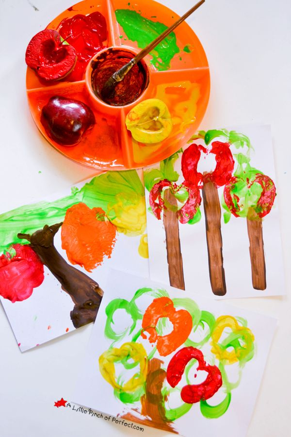 Fall Craft For Kids Apple Tree Prints