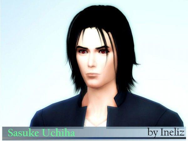 The Sims Resource: Sasuke Uchiha by Ineliz | Sims. Sims resource. Sims 4