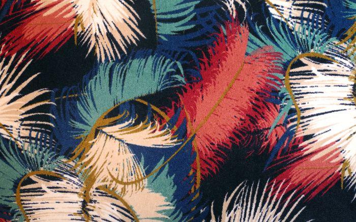 Une certaine idee du luxe avec cette moquette en fibres synthétiques de la maison Pierre Frey, dessiné par Dimore Studio