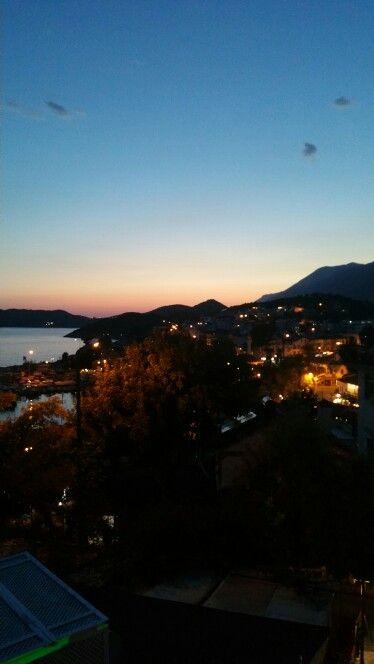 From the hotel balcony-Kaş