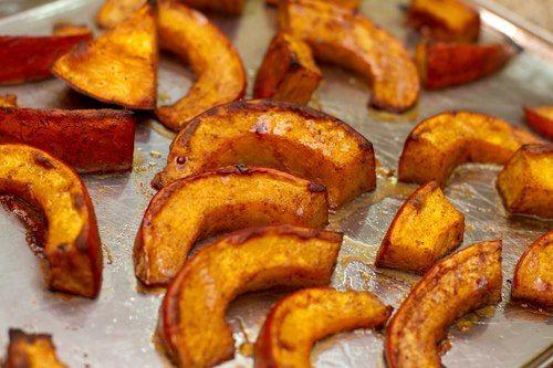 Maple Cinnamon Roasted Pumpkin Recipe #CoconutRecipes