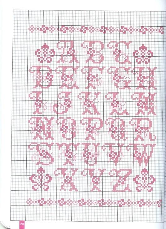 x stitch alphabet