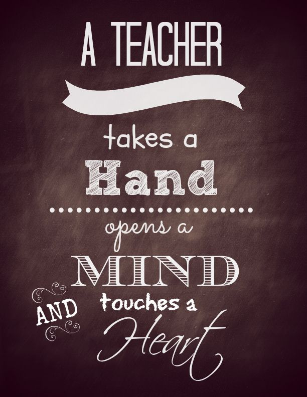 A teacher chalkboard print (free printable)