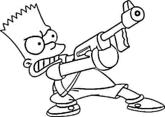 Bart Simpson Coloring Pages Arte Macabra Desenhos Imprimir Desenhos Para Pintar