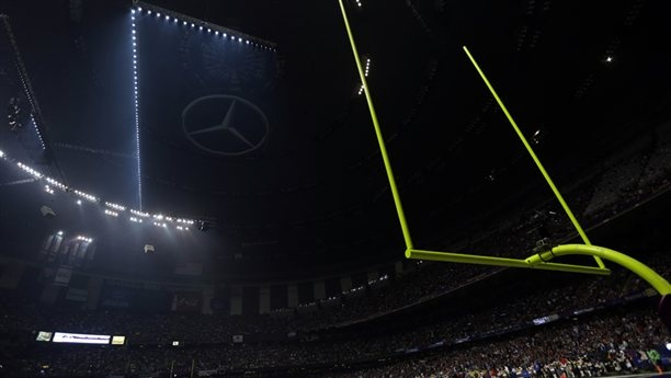 Officials say breaker cut power to Superdome    The biggest game of the year was halted for 34 minutes because of a power outage, plunging parts of the Superdome into darkness and leaving TV viewers with no football and no explanation why.  http://nbcsports.msnbc.com/id/50689277/ns/sports-nfl/
