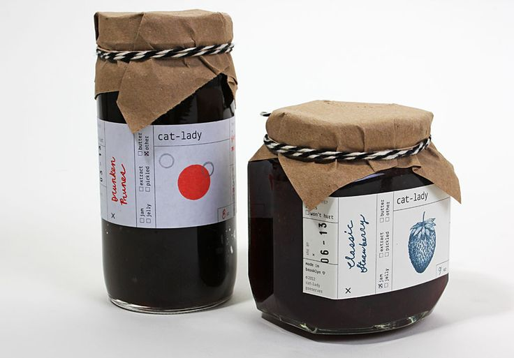 Cat Lady Preserves  Handsomely packaged homemade jams by graphic designer Sumayya Alsenan