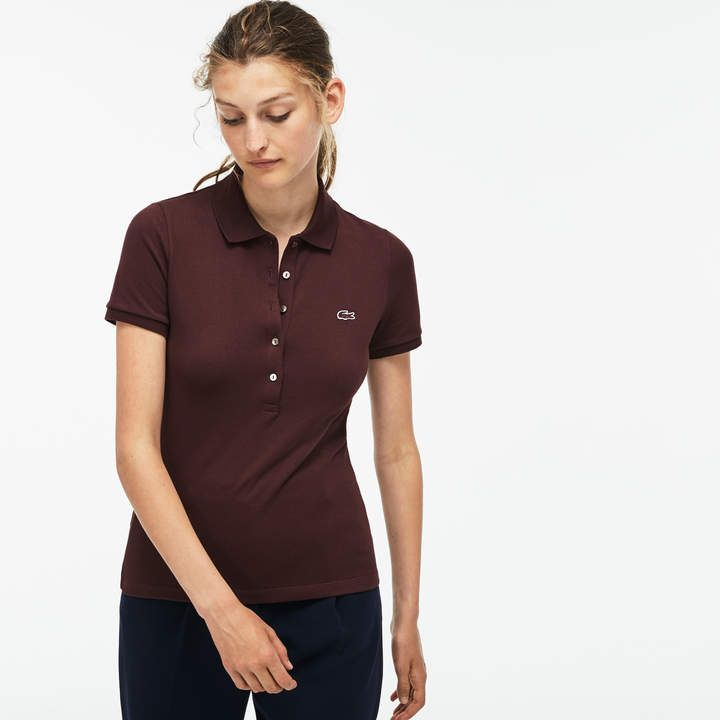 0d718e10be LACOSTE Women's Lacoste Slim Fit Stretch Mini Cotton Pique Polo ...