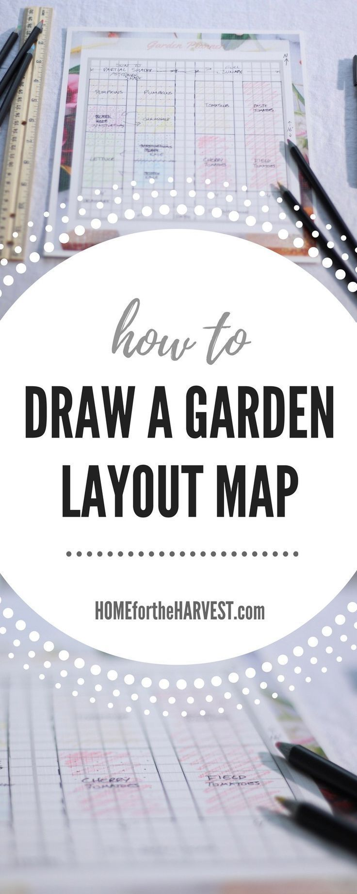 How to Draw a Garden Layout Map - A Key Part of the Garden Planning Process | Home for the Harvest #gardenplanning #gardenlayout #gardenmap #layoutmap #gardening #organicgardenning #gardenplanner #freeplanner