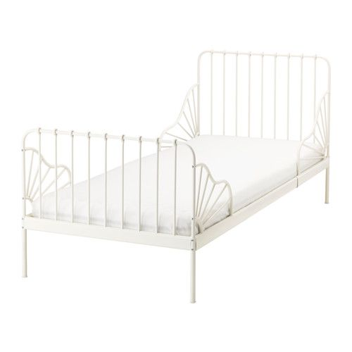 MINNEN Ext bed frame with slatted bed base IKEA Extendable, so it can be pulled out as your child grows.