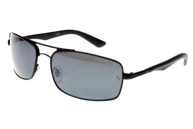 Ray Ban Active Lifestyle RB3460 Sunglasses Black Frame Gray Lens