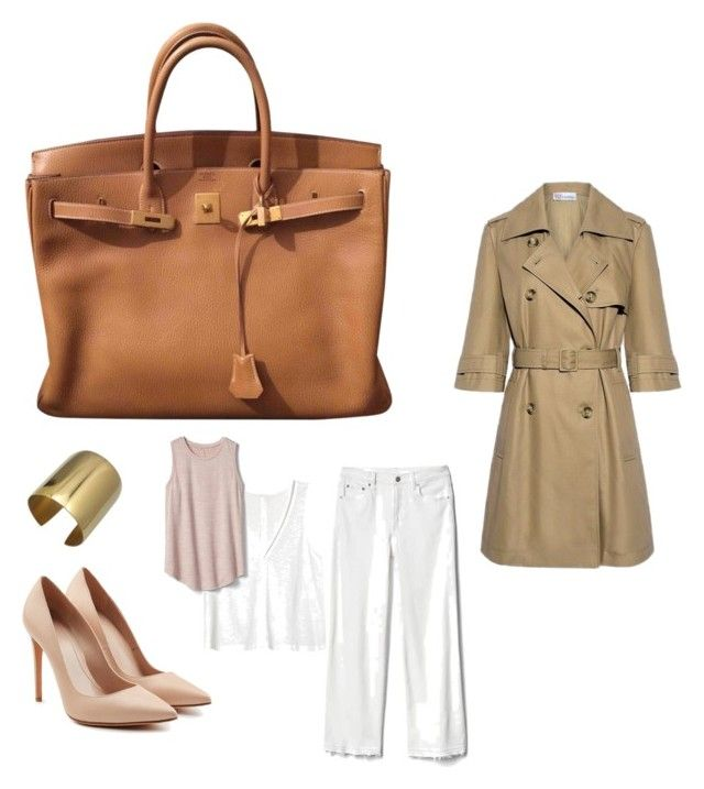 """""""Office 5"""" by marmileva-tanya on Polyvore featuring мода, Hermès, RED Valentino, Gap и Alexander McQueen"""