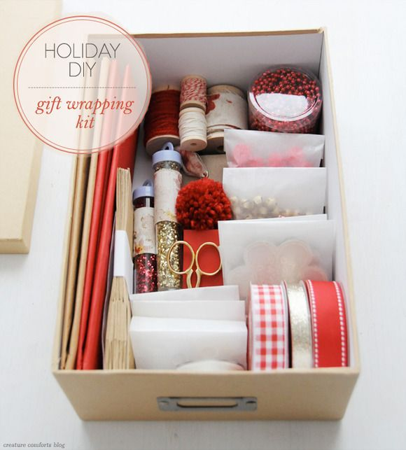 DIY Gift Wrapping Kit - a great gift to give (and receive) | shared on Creature Comforts Blog / in partnership with @Waverly