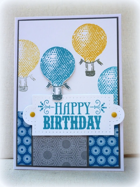 Stampin' Up! Birthday  by Amy White at White House Stamping: Retro Birthday Balloons