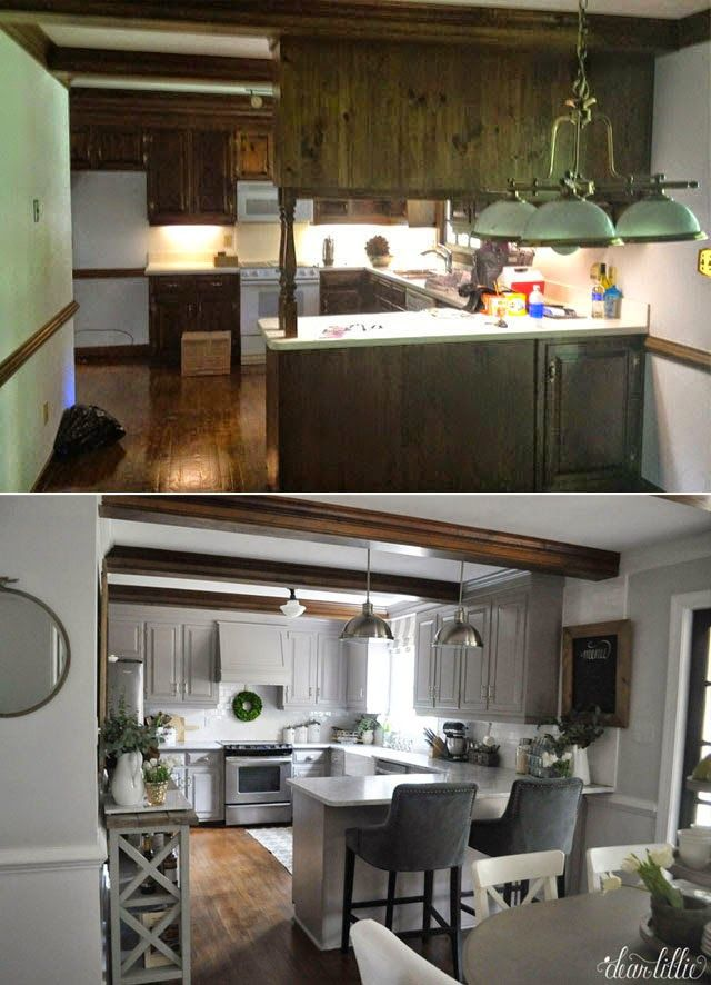 Well, except for getting rid of the light in the center of the kitchen and adding some recessed lights I think we are finally done ...