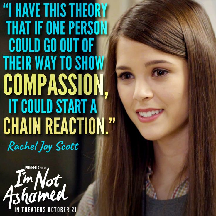 The chain reaction that Rachel started 17 years ago is still going strong! I'm Not Ashamed is now in #theaters.