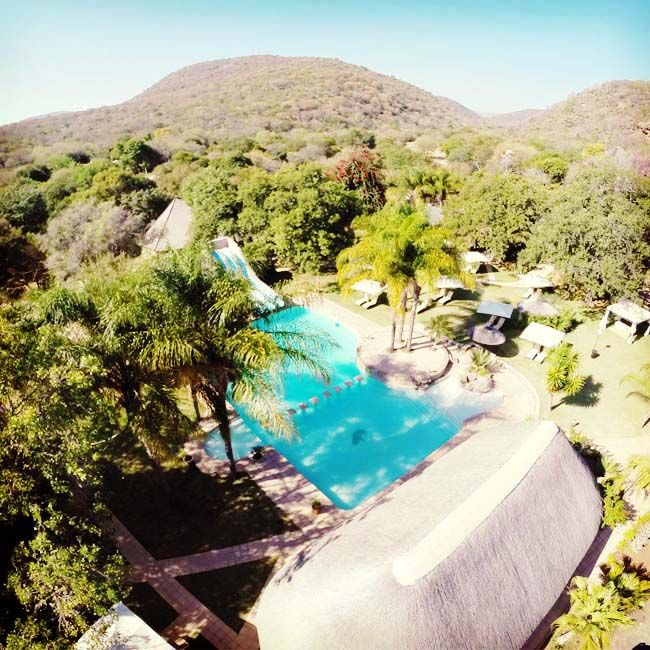 Gethlane Lodge is nestled amongst 172 hectares of sprawling indigenous forest, rich in bird life, on a well-stocked game farm. #resortoftheweek #gethlanelodge #burgersfort #instasky #theview #nature #swimmingpool #vacation #explore #travel #tourist #birdlife #firstresorts #aerialshot