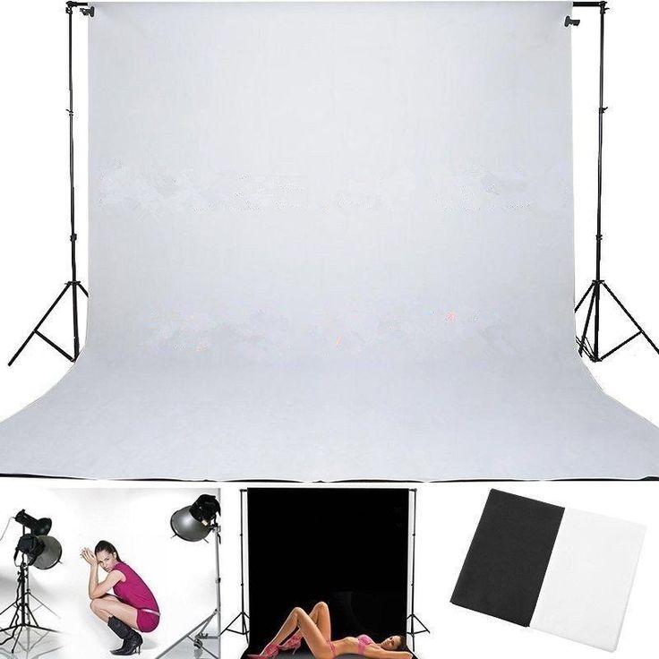 2,8*4m Fotografie Hintergrund Hintergrundsystem Schwarz Weiß Hintergründe DHL DE in Foto & Camcorder, Fotostudio-Zubehör, Hintergründe | eBay!