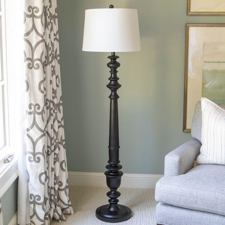 Benjamin Traditional Floor Lamp Black Polyresin Floor