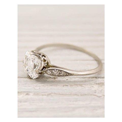 Vintage Tiffany engagement ring #nwweddingrings #vintagebrides
