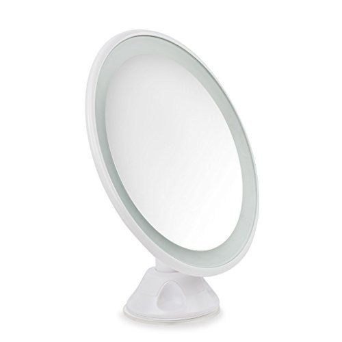 Newcomdigi Lighted Magnifying Makeup Mirror 5x Magnification Warm LED Light Bathroom Rotating Vanity Mirror 360ã