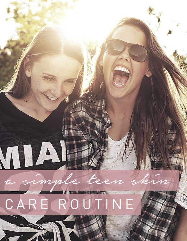 Simple and kind teen skin care routine! No chemicals - just add water with Santé.