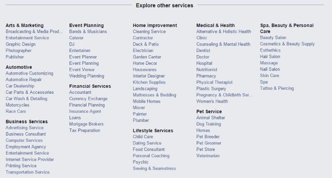 Facebook Best Professional Services A Stealth Shot At Yelp