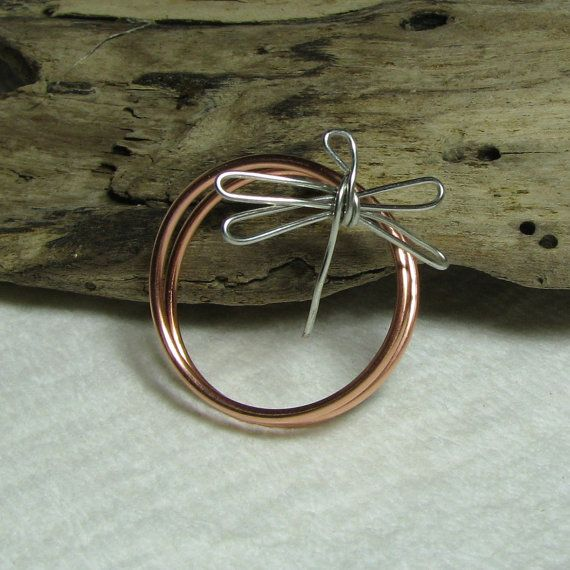 Dragonfly Napkin Rings Copper Wire Set of 4 for by AdroitJewelers