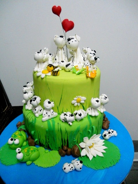 ohh... favorite decorated cakes converted into permanent pieces with polymer clay?? cool