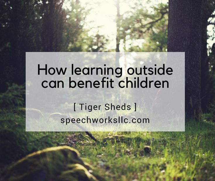 Speech therapist Jann Fujimoto of SpeechWorks in Oconomowoc, WI thinks children should get outside for green time in this Tiger Sheds article.