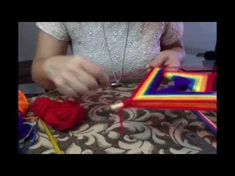 Mandala: dos Triángulos, Huichol Puntas de Flecha - YouTube
