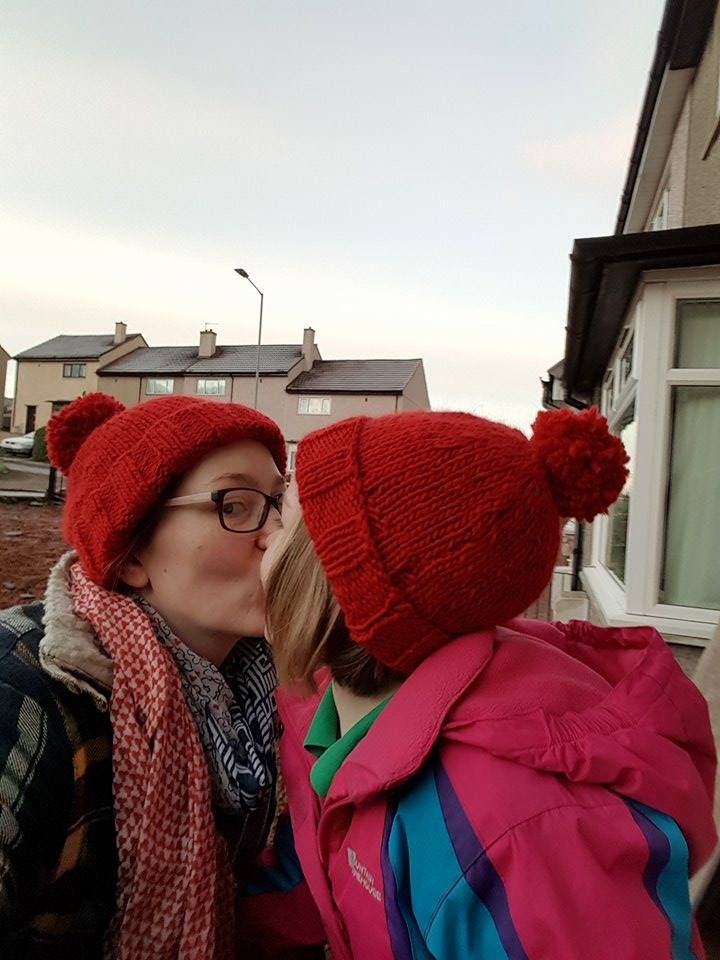 Mummy and me pompom hats . See link in bio for further details