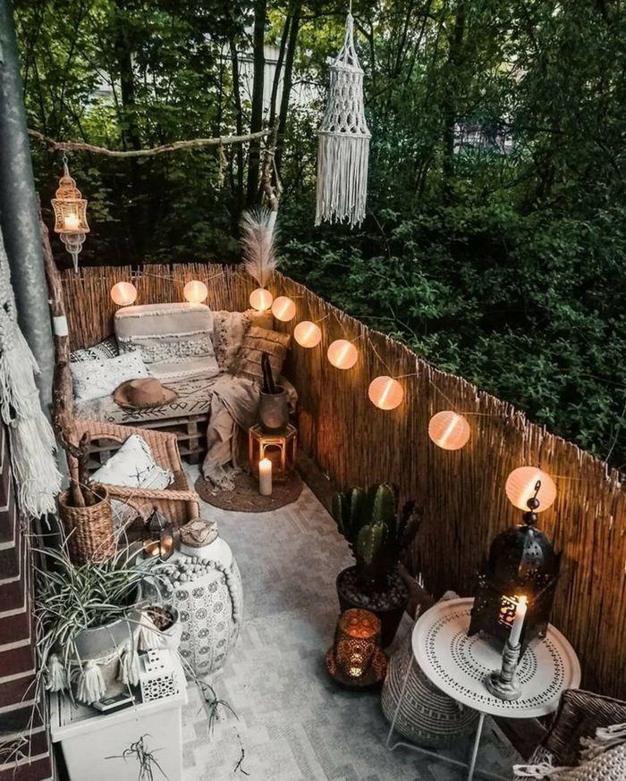 1001 Inspirierende Sichtschutz Garten Ideen Und Bilder Wohnung Balkon Dekoration Sichtschutz Garten Kleines Balkon Dekor