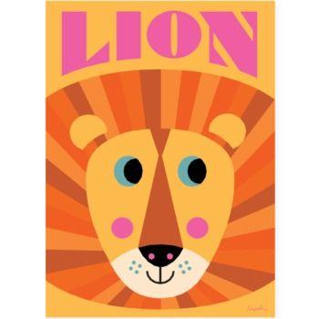 Affisch Lejonface