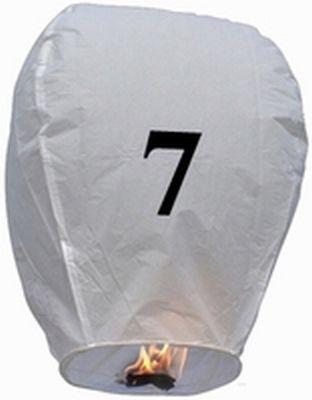 Lanterna Volante con numero 7