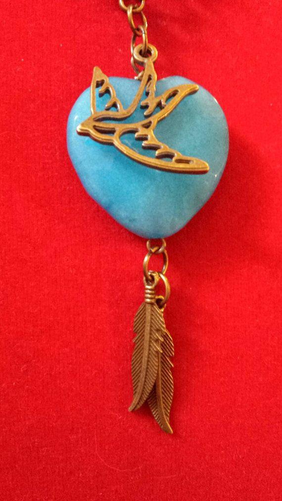 Guarda questo articolo nel mio negozio Etsy https://www.etsy.com/it/listing/288932521/collana-con-cuore-pietra-turchese