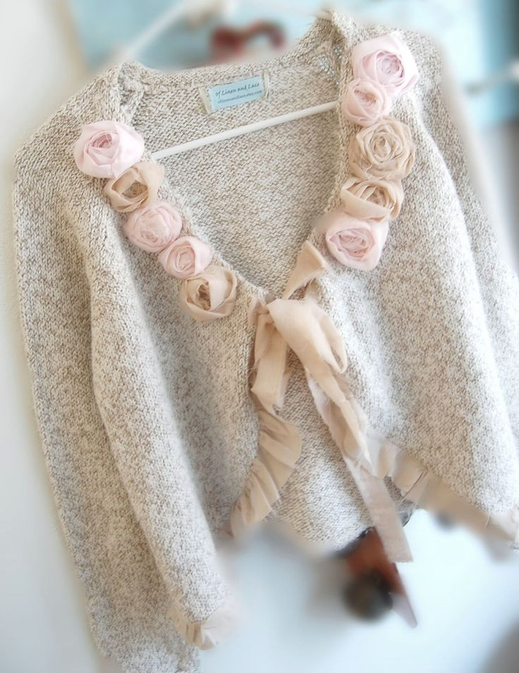 Tweedy Cotton Shabby Chic Crop Sweater Altered Couture SteamPunk Eco Friendly Romantic