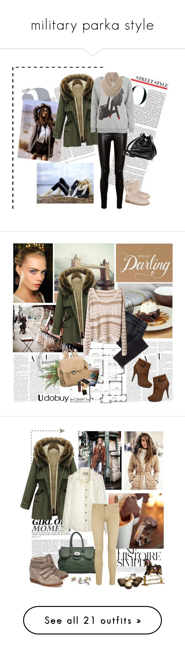 """""""military parka style"""" by martex ❤ liked on Polyvore featuring The Row, To The Black, UGG Australia, A
