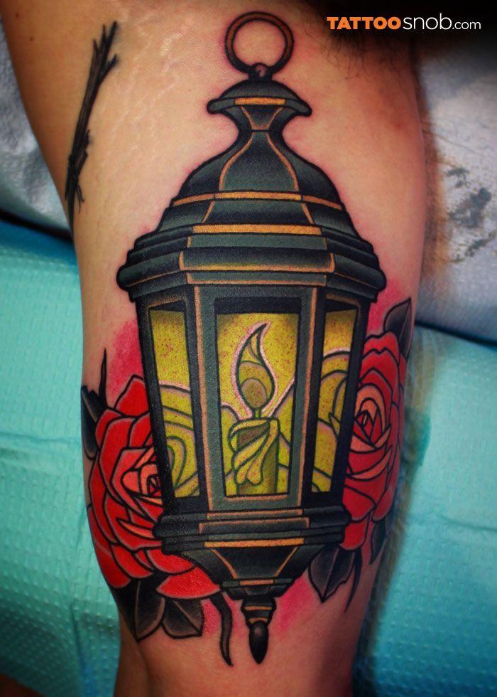 Lamp lantern #tattoo. I'd get blue roses tho...: