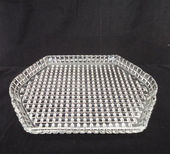Vintage Art Deco Clear Glass Tray Depression by thesecretcupboard