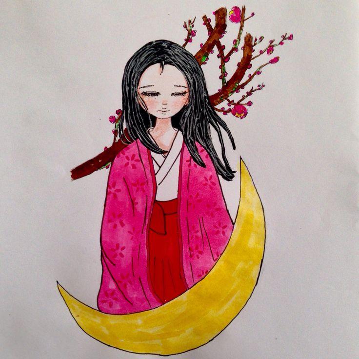 Fan art el cuento de la princesa kaguya