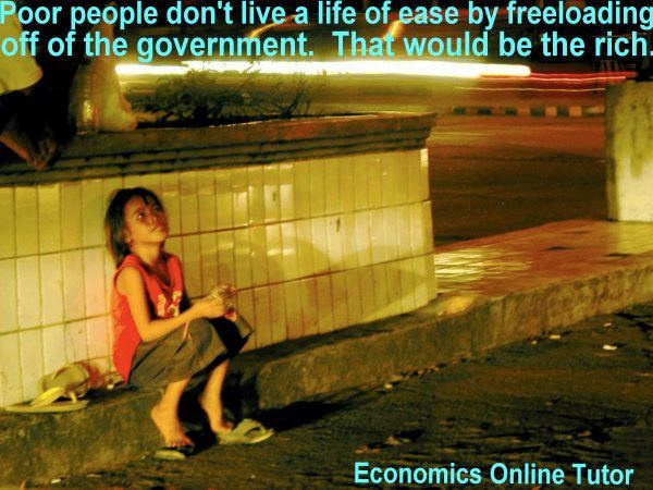 """""""Poor people don't live a life of ease by freeloading off"""