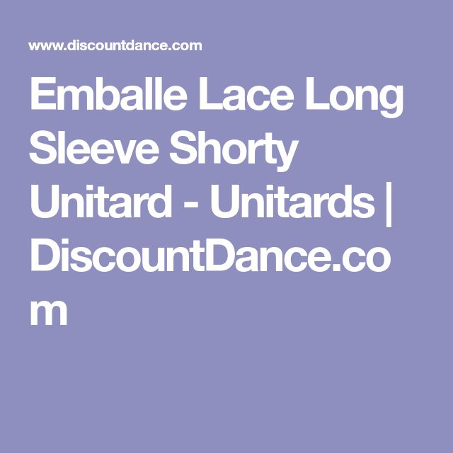Emballe Lace Long Sleeve Shorty Unitard - Unitards | DiscountDance.com