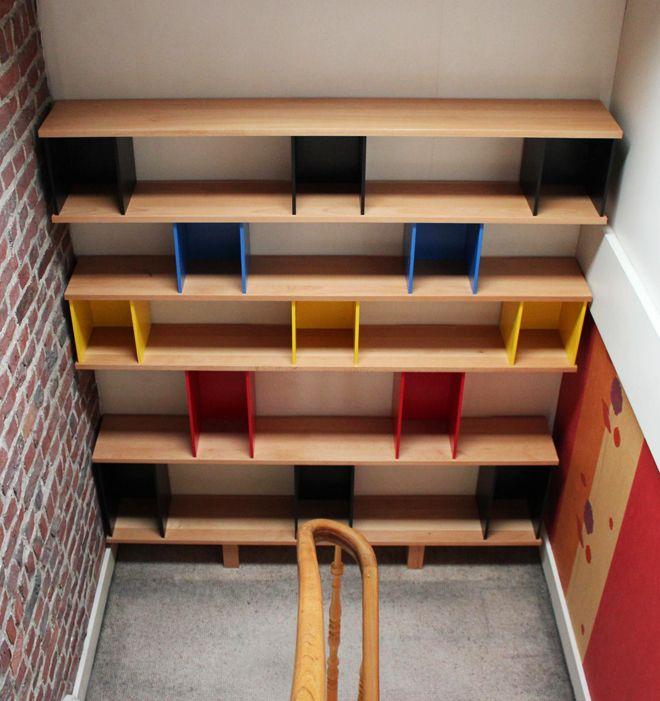 Les 167 meilleures images propos de etageres sur pinterest pi ces de monn - Creation bibliotheque sur mesure ...