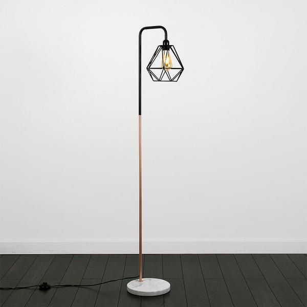 Geometric Floor Lamp Copper/Black