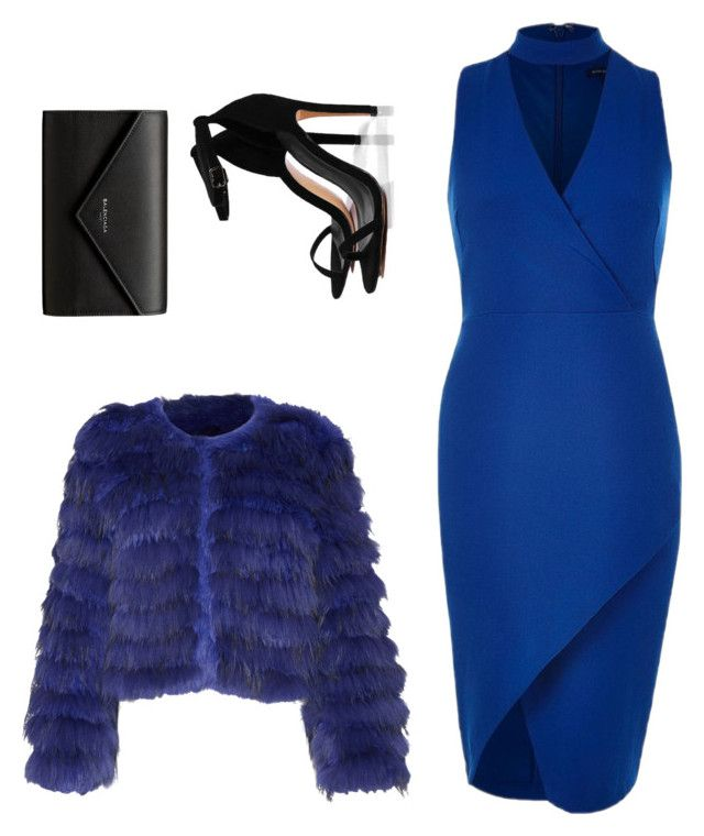 """""""Beautiful in Blue"""" by thelomthethwa on Polyvore featuring Alice + Olivia, River Island, Boohoo and Balenciaga"""