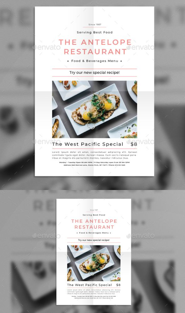 #Restaurant Promotion #Flyer - Flyers Print Templates