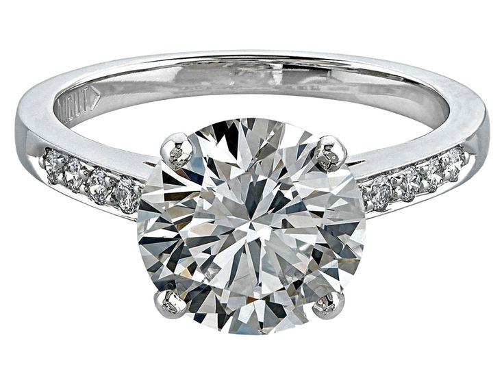 Gordon James Diamond Solitaire Engagement Ring featuring a Round Brilliant Cu