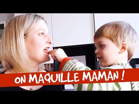 Quand les enfants maquille maman